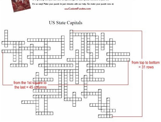 Make a crossword - Step 6